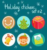 Holiday stickers set 2