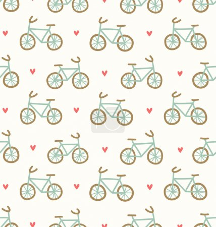 Cartoon bicycles pattern