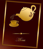 Gorgeous golden menu - retro vector illustration