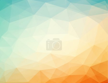 Illustration for Abstract geometric orange - blue background with triangles, vector illustration, eps 10 with transparency - Royalty Free Image