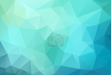 Illustration for Abstract geometric blue background with triangles, vector illustration, eps 10 with transparency - Royalty Free Image
