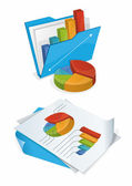 Folder And Papers With Charts