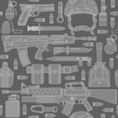 Seamless military pattern can be used for graphic design textile design or web design