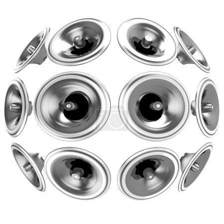Photo pour 3D sphère annonce énorme isolé sur fond blanc. - image libre de droit