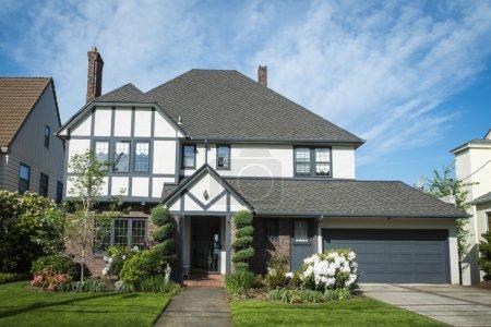 Classic American suburban house