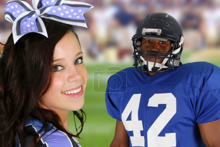 Cheerleader and Player