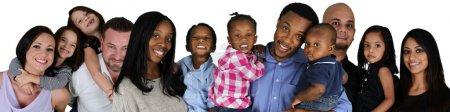 Photo pour Groupe de familles différentes ensemble de toutes races - image libre de droit