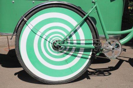 Wheel rear bike green.