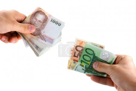Money Exchange between Euro and Thai Currency