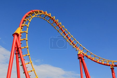 Photo pour Boomerang, un roller coaster ride à 85km, h (53 mi/h) au parc d'attractions prater à Vienne, Autriche - image libre de droit