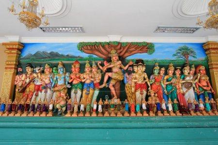 Hindu Gods at Sri Mahamariamman Indian Temple