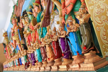 Statue of Hindu Gods at Sri Mahamariamman Indian Temple