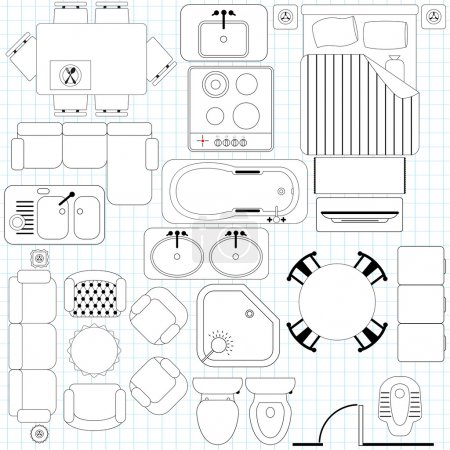 Icons : Simple Furniture, Floor Plan