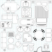 Icons : Simple Furniture Floor Plan