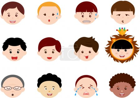 Icons: Heads of Boys, Men, Kids