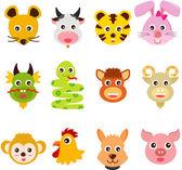Twelve Zodiac signs with Animals
