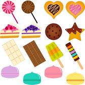 Cute Sweet Cake Cupcake Pie and Macaron