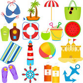 Icons : Beach in the Summer Theme