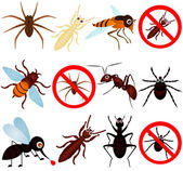A vector collection of bugs (mosquito termite ant etc)