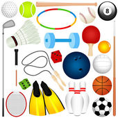 Colorful Vector Sports Set : Balls exercise equipment