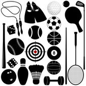 Sports Set: Balls other exercise equipments
