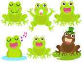 A colorful Theme of cute vector Icons : Frog in the pond