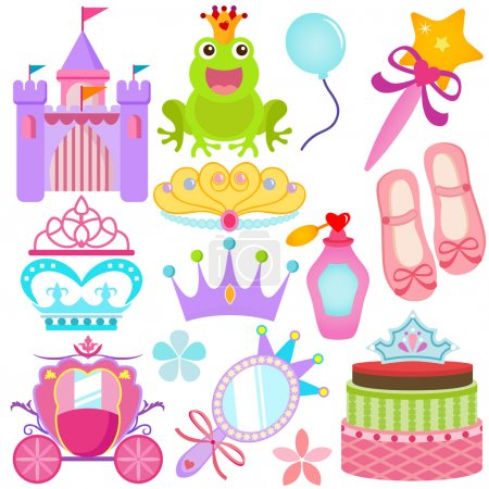 Vector Icons : Sweet Princess Set