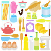 Cute Vector Icons : Cooking Baking Theme isolated on white