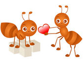 A colorful Theme of cute vector Icons : Ant in love