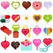 Valentine - colorful set of heart icons