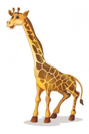 Illustration of a cute giraffe...