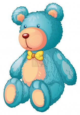 Illustration for Illustration of a blue teddy bear - Royalty Free Image