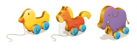Illustration for Illustration of various toys on a white background - Royalty Free Image
