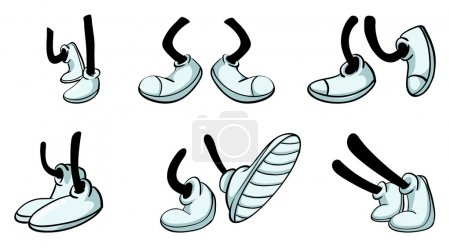 Illustration of various legs with shoe...