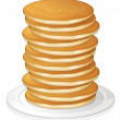 Illustration of pancakes in a dish on white backgr...