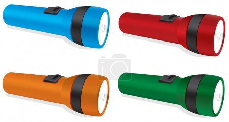 Illustration for Illustration of four torches on a white background - Royalty Free Image