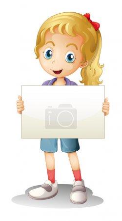 Illustration pour Illustration d'une fille sur fond blanc - image libre de droit