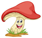 a mushroom with face