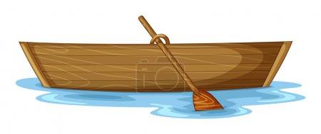 Illustration pour Illustration d'un bateau sur fond blanc - image libre de droit