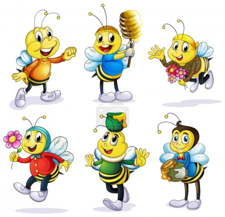 Various bees