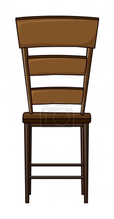 Illustration for Illustration of a wooden chair on a white background - Royalty Free Image