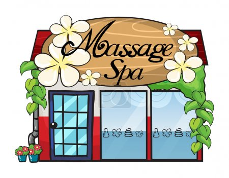 Illustration for Illustration of a massage spa on a white background - Royalty Free Image