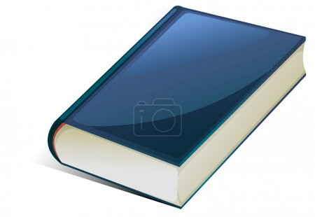 Illustration for Illustration of blue book on a white background - Royalty Free Image