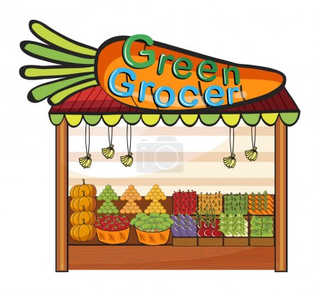 A green grocer shop