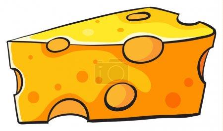 Illustration pour Illustration du fromage sur fond blanc - image libre de droit
