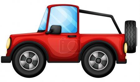 A red car