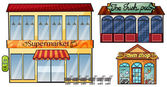 Supermarket pub and pawnshop
