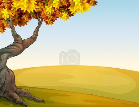 Illustration pour Illustration d'un paysage d'automne - image libre de droit