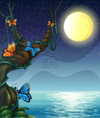Illustration pour Illustration de la pleine lune - image libre de droit