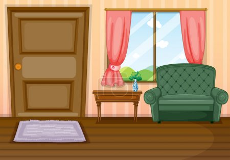 Illustration for Illustration of furnitures inside the house - Royalty Free Image